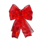 Starlite Creations 9 in. 36-Light Battery Operated LED Red Everyday Bow-EB03-R006-A1 202371875
